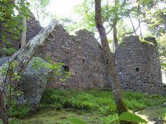 Inveruglas Castle - McFarland castle ruins destroyed by Oliver Cromwell in 1650.