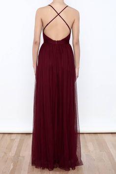 48481ec1366 Sexy Deep V Neck Tulle Maxi Dress
