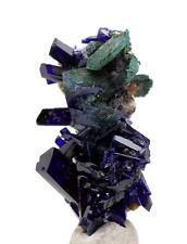 RARE AZURITE MALACHITE Crystallized GEMMY Crystal Cluster Mineral Specimen Gem