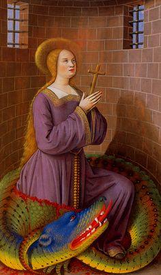 1500-1508 Saint Marguerite, Marguerite Saint Les Grandes Heures d'Anne de Bretagne Bibliothèque nationale, Paris