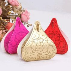 Hershey Chocolate Box Gold/Red/Rose Red/Pink European Romantic Shinning Water Droplets Peach Heart Wedding Candy Boxes Wedding Favors Box, $0.17 | DHgate.com