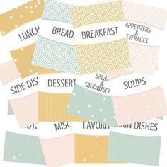 Organize all of your recipes with these pretty free recipe binder printables. The printables include cover sheets for each section, recipe sheets, divider tags, a grocery list plus a menu planning sheet. Organize all your recipe in style. Wedding Planning Binder, Menu Planning, Binder Covers Free, Family Recipe Book, Recipe Books, Family Recipes, Recipe Book Covers, Homemade Cookbook, Recipe Sheets