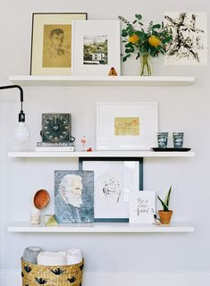 Caroline Brewer Styling: DIY Floating Shelves