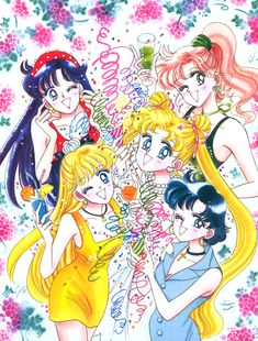 Sailor Moon Tsukino Usagi Hino Rei Mizuno Ami Kino Mako Break Time Figurine NB
