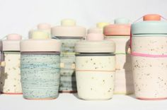 MINTY WARES | Softly coloured and patterned ceramic vessels by ben fiess