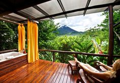 Nayara Hotel, Costa Rica :) private balconies overlooking the volcano! I'm dreaming of this!