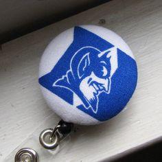 DUKE University Retractable ID Badge Reel by SweetAnnaCreations, $6.00