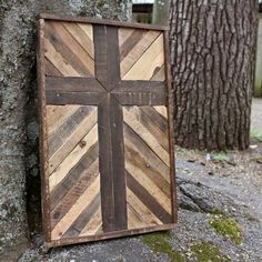 Rustic Cross Made from Reclaimed Wood by crtcreative on Etsy