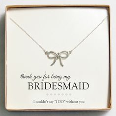 Sweet Bow Necklaces - Such a cute gift idea for your bridesmaids!! And under $24, not bad!