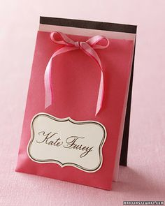 Sealed Sweets Seating Escort Cards