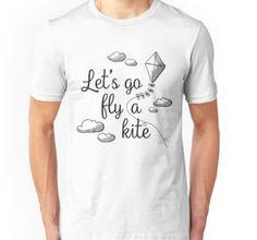 Let's go fly a kite!  Mary Poppins inspired design on RedBubble, for shirts, mugs, totes, and more