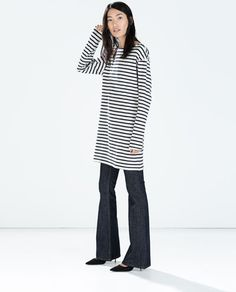 STRIPED LONG-SLEEVED DRESS - Zara - Reduced to £ 7.99 (was £17.99)
