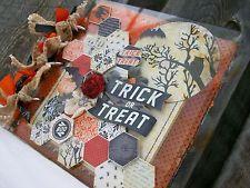 Acrylic*Chipboard Mini Album ocbrandy*TPHH PREMADE Photo Scrapbook Halloween