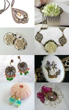 I love vintage inspired!  How about you!  Beautiful!      HTLT by Sherry on Etsy--Pinned with TreasuryPin.com