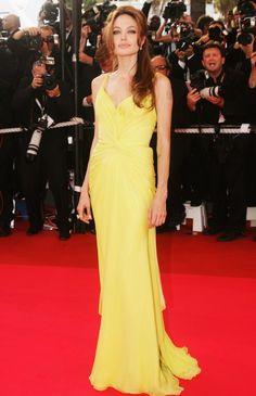 Vestidos amarelos no red carpet
