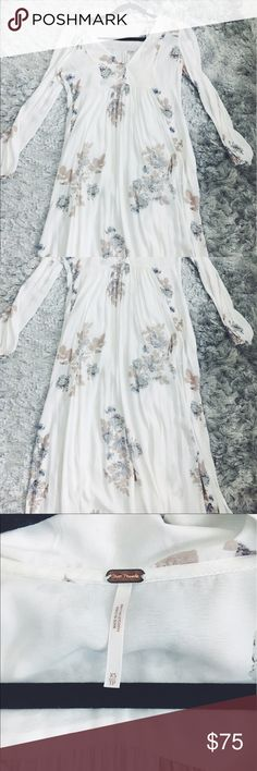Free People White Floral Maxi Dress Free People White Floral Maxi Dress | Worn once | Great condition Free People Dresses Maxi