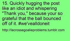 Lacrosse goalie problem #15