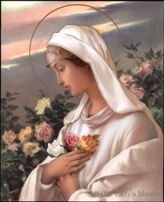 Catholic Picture Print Blessed Virgin Mary Mystical Rose Rosa Mystica