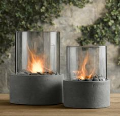 Tabletop fire pit - love these for the backyard tables