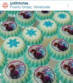 Mini gelatinas Frozen, por: Judith Tortas.