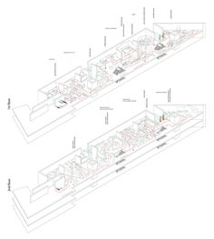 Competition for the New Cyprus Museum draftworks*architects Exhibition Axonometric, Spyros Nasainas museologist
