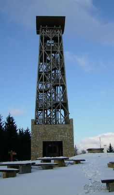 Slovakia, Veľký Lopeník - Wooden tower
