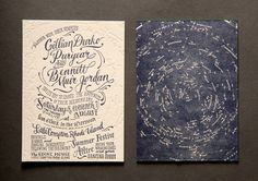 50 Unforgettable Wedding Invitations | http://www.weddingbells.ca/blogs/planning/2012/12/03/50-unforgettable-wedding-invitations/attachment/lady-fingers-letterpress/