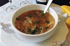 Receita de Sopa de cebola e macarrão diferente em receitas de sopas e caldos, veja essa e outras receitas aqui!