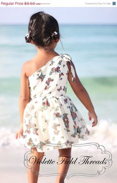 Spring Sale Stella One-Shoulder Dress PDF Pattern Tutorial, sizes 2-10 years included