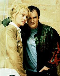 Uma Thurman and Quentin Tarantino by Ali Kepenek
