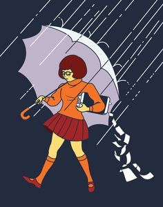 Velma - Salt Girl mashup Needs tattoos-on-tattoos, better hair/glasses, no turtleneck Love the briefcase - make it books?