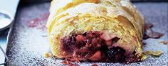 This easy blackberry & pear strudel recipe uses packet filo pastry for less fuss and the stem ginger adds a spicy zip to the fruity filling.