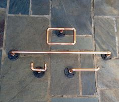 Industrial Copper Pipe for the bathroom!