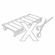 Pattern Detail | X for Xylophone | Needlecrafter