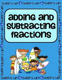 Cute game for comparing, adding and subtracting fractions (with like and unlike denominators). Would make a great center for Math.