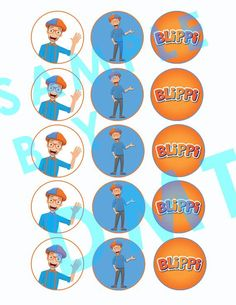 DIY Blippi Inspired Cupcake Toppers Aries Birthday, Fourth Birthday, Diy Birthday, Birthday Party Themes, Birthday Ideas, Edible Cake Toppers, Birthday Cake Toppers, Cupcake Toppers, Star Diy