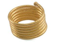 24K Gold Spring Ring by GURHAN