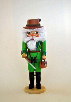 Hunter with Gun German Wooden Christmas Nutcracker