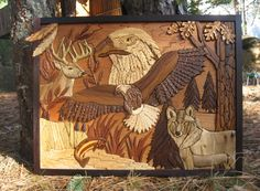 Custom Intarsia Wood Art Majestic 2 by RCCustomWoodArt on Etsy