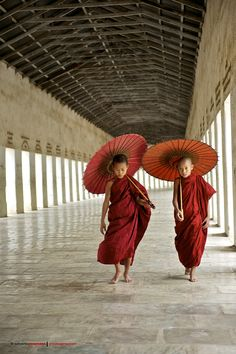 Young Monks in Burma.