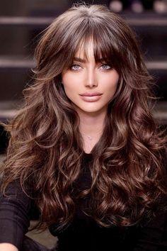 Medium Hair Styles, Curly Hair Styles, Long Hair Fringe Styles, Great Hair, Hair Day, Gorgeous Hair, Pretty Hairstyles, Hair Looks, Hair Inspiration