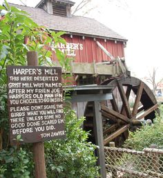 Harper's Mill on Tom Sawyer Island in the Frontierland area of the Magic Kingdom at Disney World.
