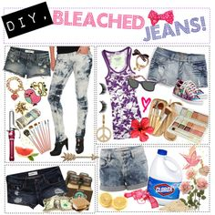 """""""Tip: DIY, BLEACHED JEANS/SHORTS included: distressing!"""" by pipersmiles on Polyvore"""
