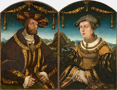 Wilhelm IV, Duke of Bavaria and Maria Jakobaea of Baden by Hans Wertinger