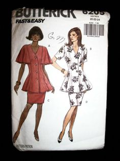Plus Size 1992 Butterick Pattern 6205 Top and by TheSewingDen, $6.99