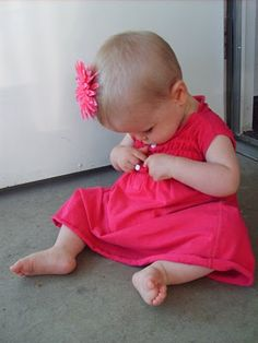 Pink Baby Dress (Made from an old tank top)    www.the-red-kitchen.com