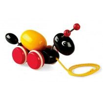 Brio - Ant Pullalong with Egg #EntropyWishList #PinToWin We'll be happy to see him pulling this down the hall
