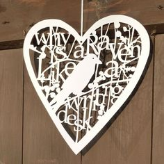 Two Large Hanging Hearts   Sarah Morpeth   Made By Hand Online