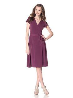 Leota Women's Cap Sleeve Dress (Purple)