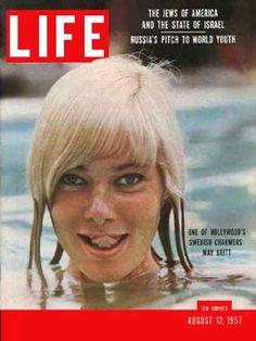 Life Magazine Cover Copyright 1957 May Britt - www.MadMenArt.com | Our favorite…